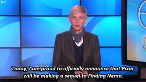 Ellen Degeneres Meme - gif disney pixar ellen ellen degeneres finding nemo gifset the ellen