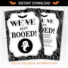 Halloween Boo Poems Halloween Printables You U0027ve Been Booed Easy To Print