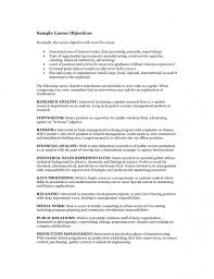 Career Objective For Resume For Experienced Resume Examples Education In Sample For Objective With Regarding