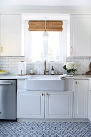 white kitchen cabinets with blue tiles classic white kitchen reveal room for tuesday