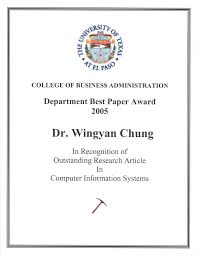 where can i get resume paper wingyan chung received the best research paper award