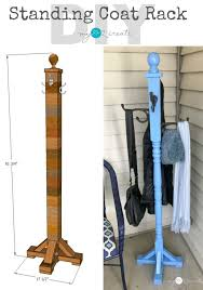 coat rack diy free standing towel tree pinterest contemporary