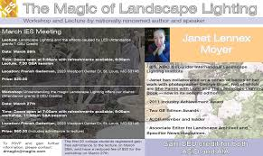 Landscape Lighting St Louis by The Magic Of Landscape Lighting Lecture Workshop With Janet