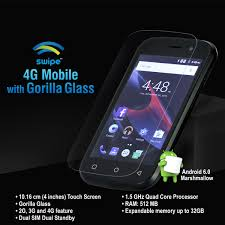 Sho Mobil buy swipe 4g mobile with gorilla glass at best price in india
