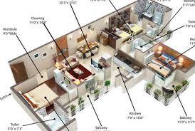 1bhk tower d 3d floor plan service u0026 2bhk tower b 3d floor plan