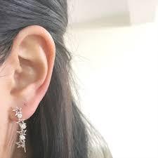 ear climber earrings cz ear climber kikichic new york luxury minimalist