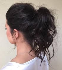 25 unique medium hair ponytail ideas on pinterest half up half