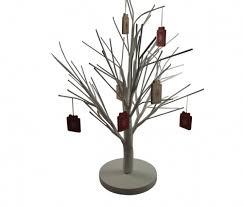 White Christmas Twig Tree Table Decoration