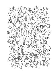 coloring page quotes coloring pages with quotes adult coloring page and nice decoration