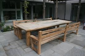 patio table and bench oak garden table and benches