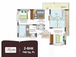 2 bhk 746 sq ft apartment for sale in shriline avanti at rs