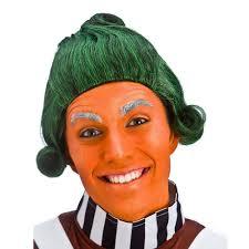Oompa Loompa Costume Short Green Umpa Lumpa Factory Worker Oompa Loompa Fancy