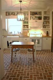 best 25 brick tile floor ideas on brick floor kitchen