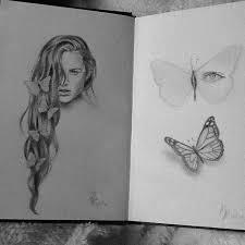 butterfly sketch hair on instagram