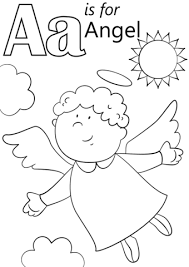 angel color pages letter a is for angel coloring page free printable coloring pages