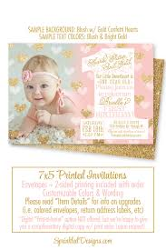 1st Birthday Card Invitation Our Little Sweetheart 1st Birthday Invitation One Year Old
