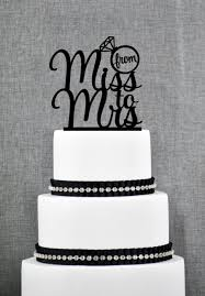 from miss to mrs bridal shower cake topper from miss to mrs cake