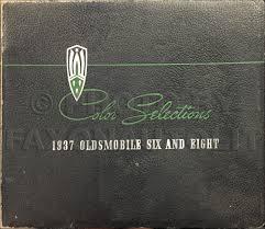 1937 oldsmobile paint selection samples original