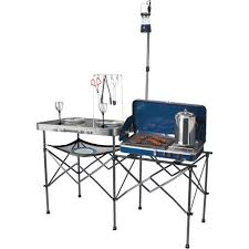 Portable Camping Sink Kitchen by Ozark Trail Deluxe Portable Camp Kitchen Table Walmart Com