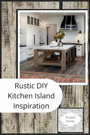 how to build a kitchen island with seating rustic diy kitchen island diy kitchen home design
