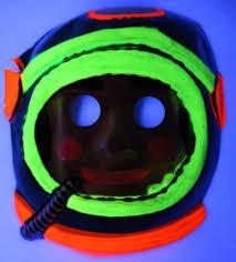 halloween black lights vintage astronaut halloween mask spaceman zest 1960 u0027s 60 u0027s black