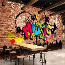 custom 3d wall murals wallpaper city art graffiti brick wall large wall painting mural wall