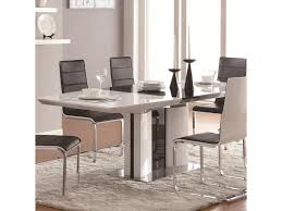 coaster dining room sets coaster broderick contemporary white rectangular dining table with