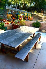 picnic table ideas patio contemporary with bench seat covered
