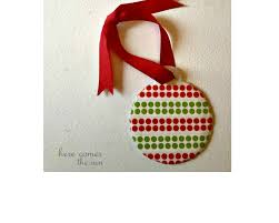 washi tape ornament