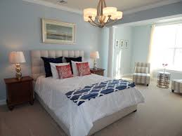 Navy White And Coral Bedroom Crazy For Coastal Decor Connecticut Post