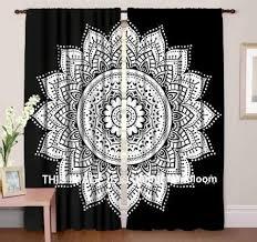 Drapes Black And White Mandala Hippie Tapestry Curtains U0026 Window Door Drapes Valances