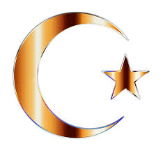 clipart golden crescent moon and