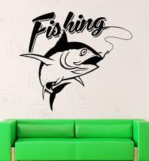 popular fishing wall decals buy cheap fishing wall decals lots wall decal fishing fisherman fish hobbies vinyl stickers art mural china