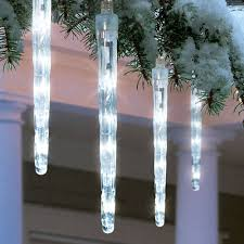 battery operated icicle christmas lights holiday time battery operated 8 piece led dripping icicle christmas