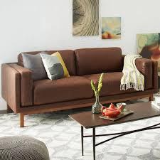 Cheap Leather Sofas Online Uk Dekalb Leather Sofa 216 Cm West Elm Uk