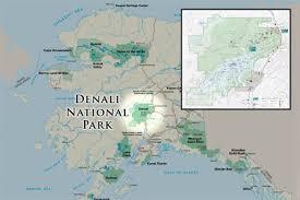 denali national park map denali national park photos and information about alaska s