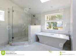 modern bathroom with shower and bathtub stock photos image 35055823