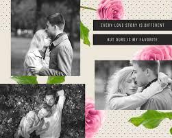 love photo collage templates canva