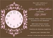 around the clock bridal shower around the clock bridal shower invitations
