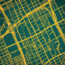 Uark Campus Map Wayne State University Campus Map Art City Prints
