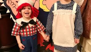 Raggedy Ann Andy Halloween Costumes Adults Peanuts Pumpkin Halloween Party Intelligent Domestications