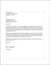 Sample Application Letter Format PDF