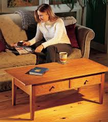 shaker end table plans two drawer coffee table popular woodworking magazine
