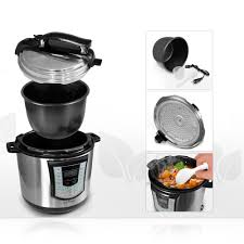 amazon com nutrichef digital pressure cooker electric stainless