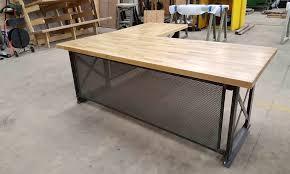 Metal L Shaped Desk Large L Shaped Desk Vintage Metal Home Design Ideas