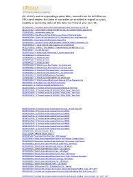 list of upcs and product names