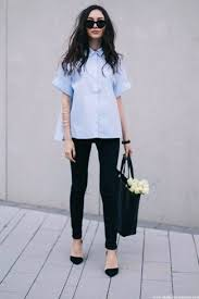 light blue button down shirt women s how to wear a light blue short sleeve button down shirt 14 looks