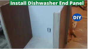 how to replace kitchen end panels how to install dishwasher end panel step by step