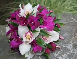 Orchid Bouquet Lavender And Purple Wedding Bouquets Bb0584 Cymbidium And
