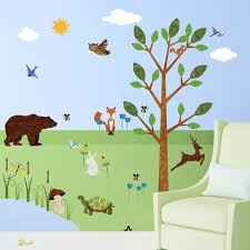 forest theme wall mural stickers decals u0026 stencils